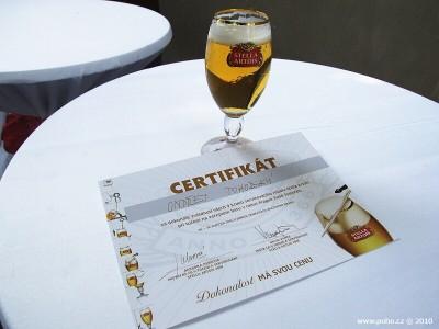 Certifikát od Stelly