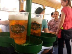 Držáky na pivo v pivní šalině