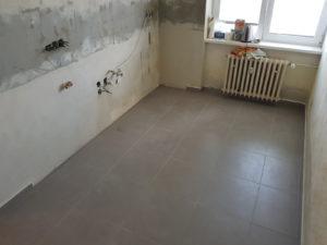 Nová podlaha v kuchyni