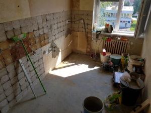 Kuchyně - zednické práce