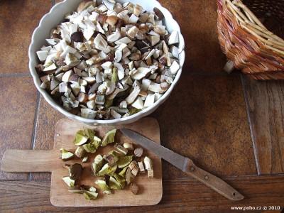 Nakrájené houby