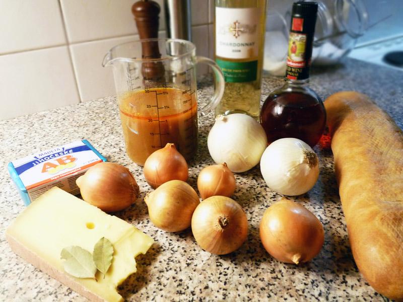 Ingredience - Francouzská cibulačka