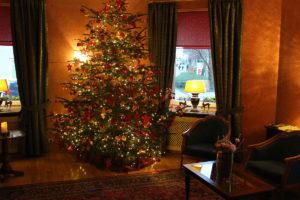 Vánoční strom v hotelu Mozart